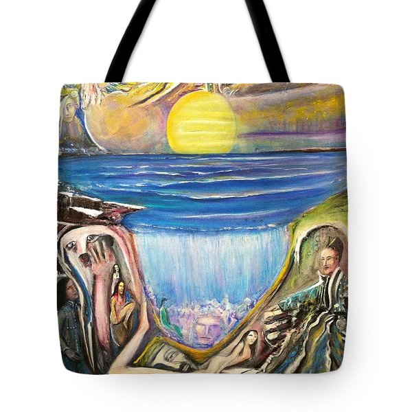 Children Walking On The Sun And Visiting Earth Tote Bag