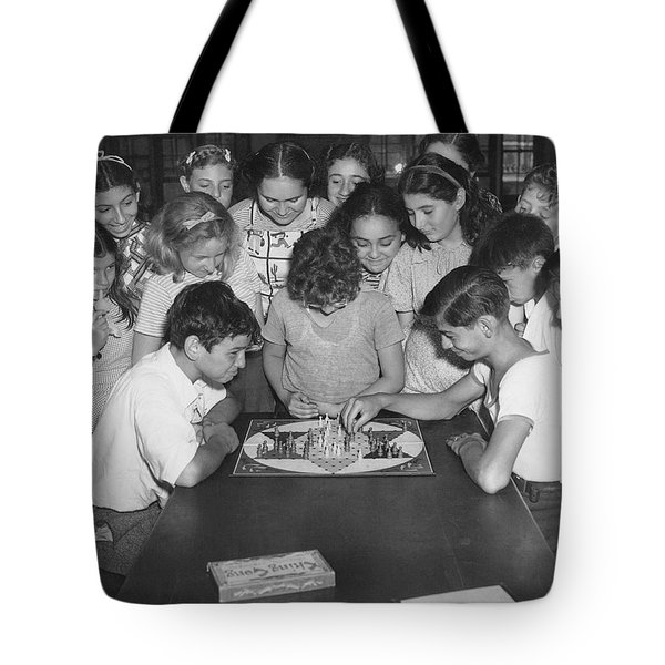 Children Playing Game Tote Bag