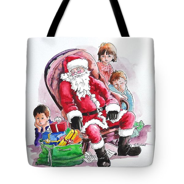Children Patiently Waiting Up For Santa. Tote Bag