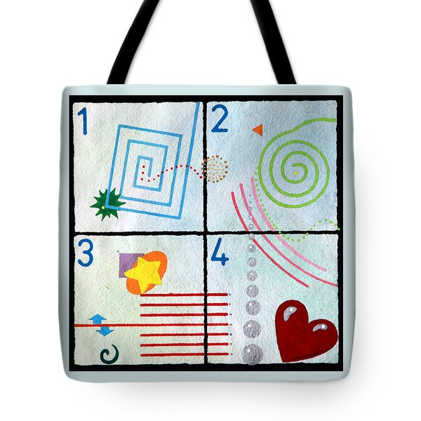 Tote Bag featuring the painting Child's Play by Thomas Gronowski