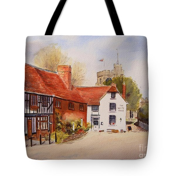 Tote Bag featuring the painting Chilham Kent by Beatrice Cloake