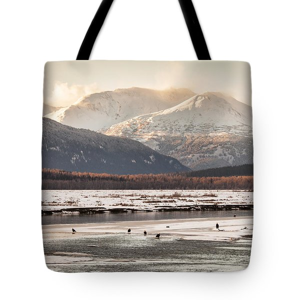 Chilkat Bald Eagle Preserve In Winter Tote Bag