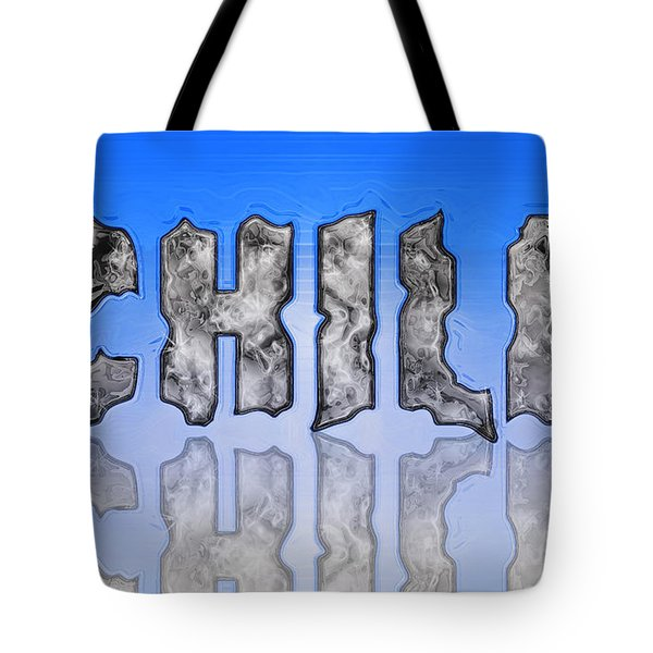 Tote Bag featuring the digital art Chill Digital Art Prints by Valerie Garner