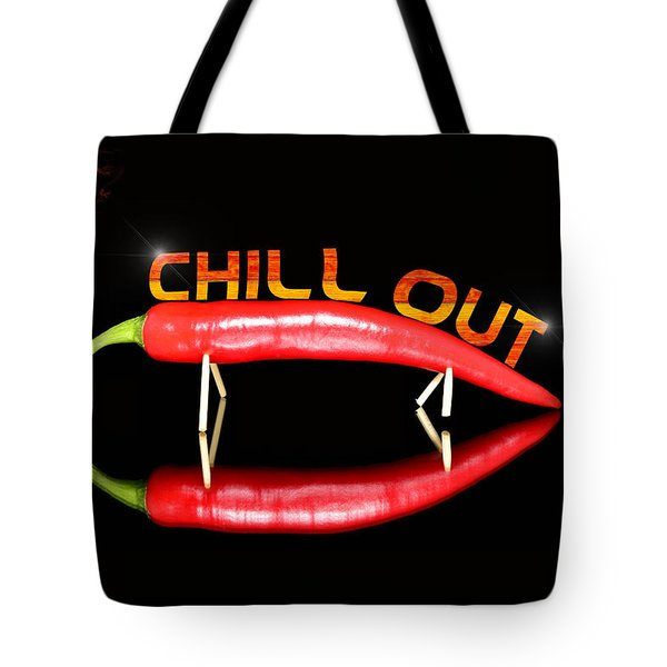 Chilli Pepper And Text Chill Out Tote Bag