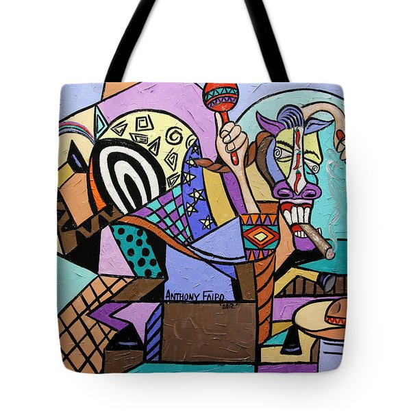 Chilli Pepper Mexican Dancing Horse Tote Bag by Anthony Falbo