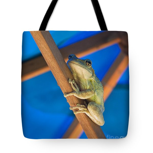 Chillin By The Pool Tote Bag by Michelle Wiarda