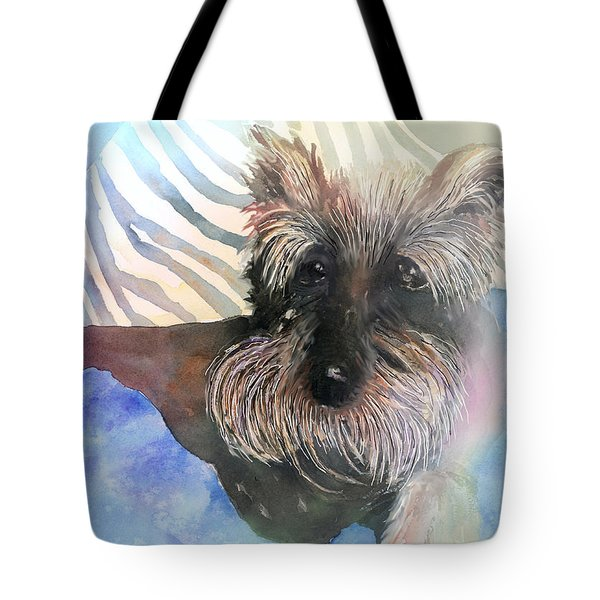 Tote Bag featuring the painting Chilling Out by Arline Wagner