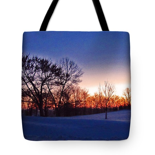 Chilly Beautiful Sunrise Tote Bag by Minding My  Visions by Adri and Ray
