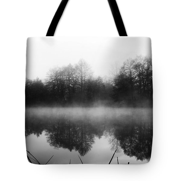 Chilly Morning Reflections Tote Bag