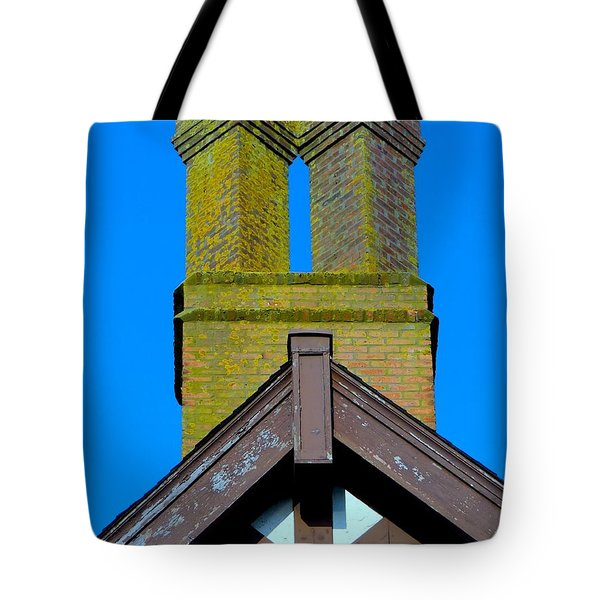 Chimney Abstract Tote Bag by Ed Weidman