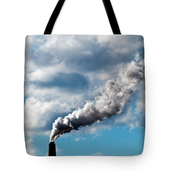 Chimney Exhaust Waste Amount Of Co2 Into The Atmosphere Tote Bag by Ulrich Schade