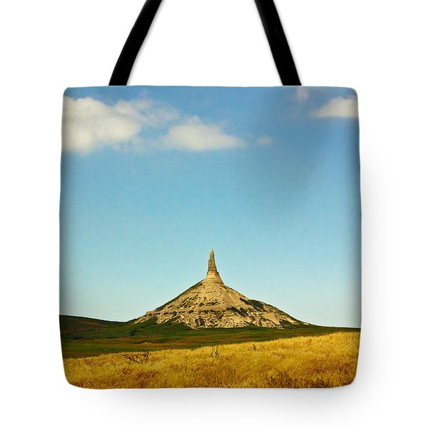 Chimney Rock Nebraska Tote Bag by Robert Frederick