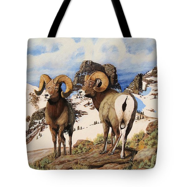 Chimney Rock Thunderheads Tote Bag