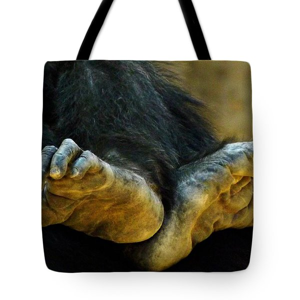 Chimpanzee Feet Tote Bag