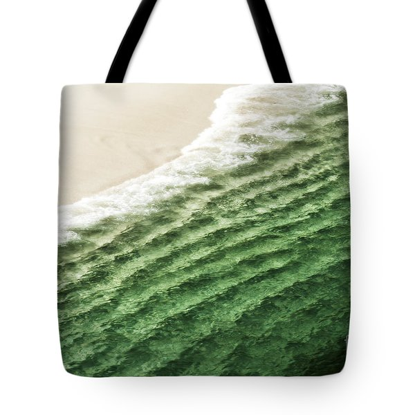 China Beach Wave Ocean Theme Pillow Print Tote Tote Bag by Artist and Photographer Laura Wrede