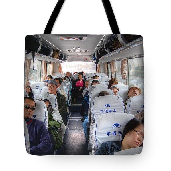 China Bus Ride  Tote Bag