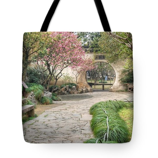 China Courtyard Tote Bag