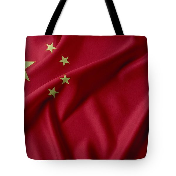China Flag  Tote Bag by Les Cunliffe