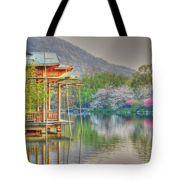 China Lake House Tote Bag