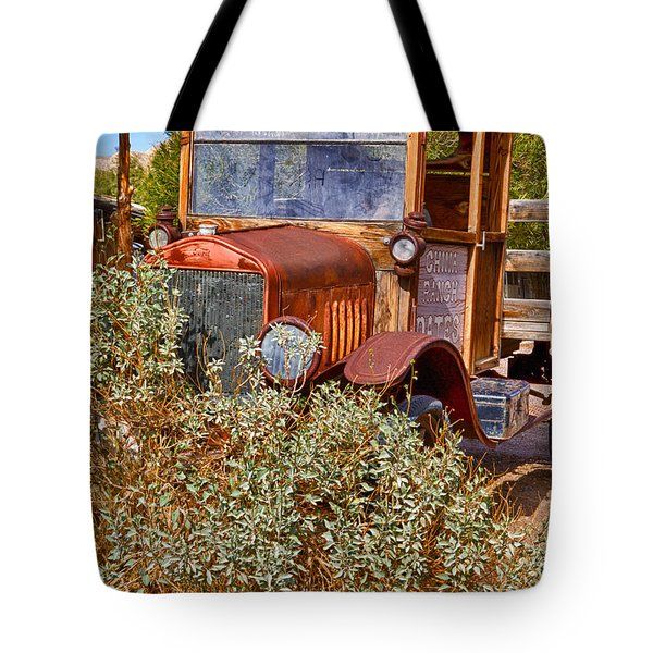 Tote Bag featuring the photograph China Ranch Truck by Jerry Fornarotto