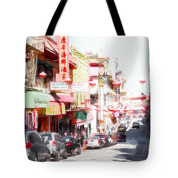 Chinatown Gate On Grant Avenue In San Francisco 7d7175wcstyle Tote Bag