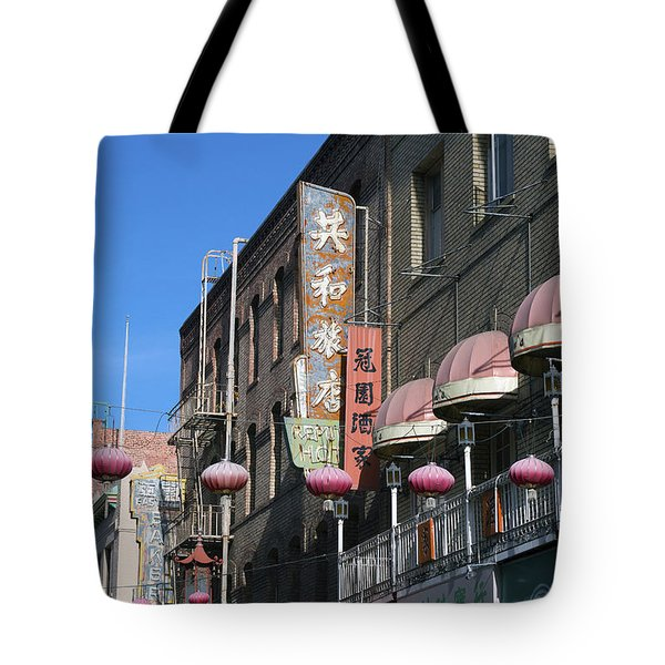 Chinatown Sign Tote Bag