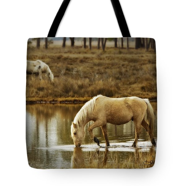 Chincoteague Gold Tote Bag by Joan Davis