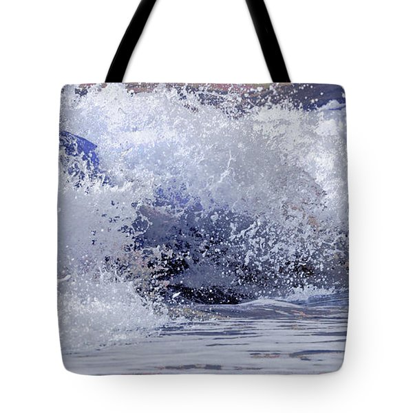 Tote Bag featuring the photograph Chincoteague Waves by Olivia Hardwicke
