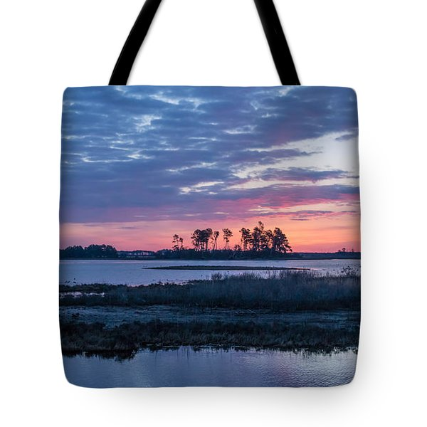 Chincoteague Wildlife Refuge Dawn Tote Bag by Photographic Arts And Design Studio