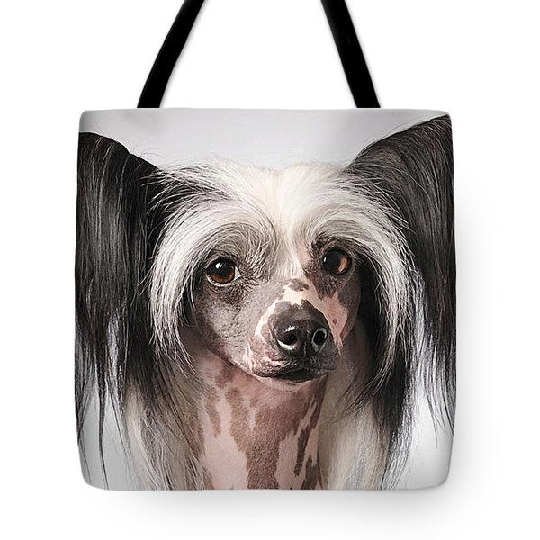 Chinese Crested Hairless Puppy  Tote Bag