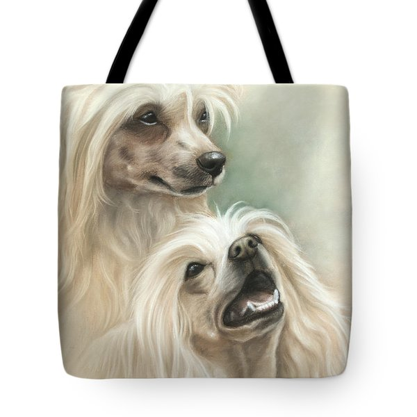 Chinese Crested Tote Bag by Tobiasz Stefaniak