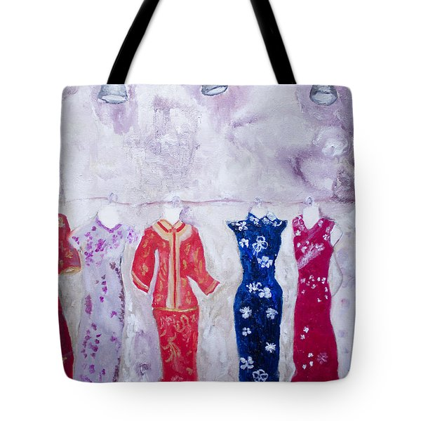 Chinese Dresses Tote Bag by Aleezah Selinger