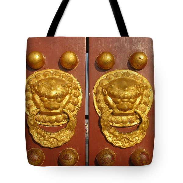 Chinese Imperial Door Knockers Tote Bag