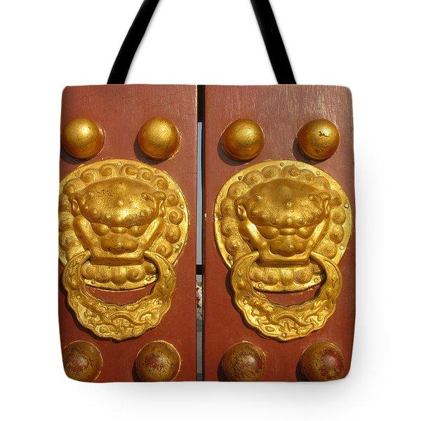 Chinese Imperial Door Knockers Tote Bag