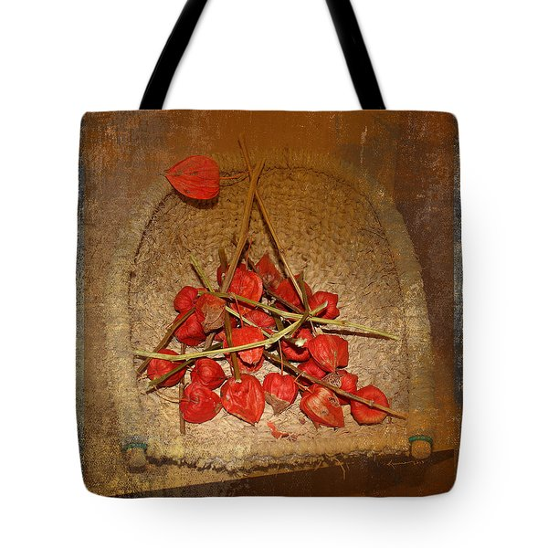 Chinese Lantern Seed Pods Tote Bag by Kume Bryant