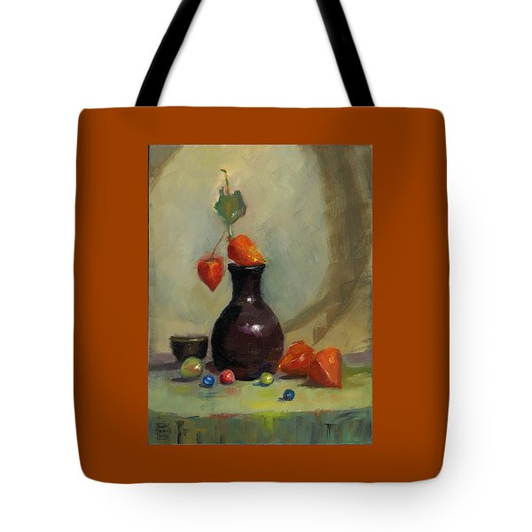 Chinese Lanterns And Marbles Tote Bag