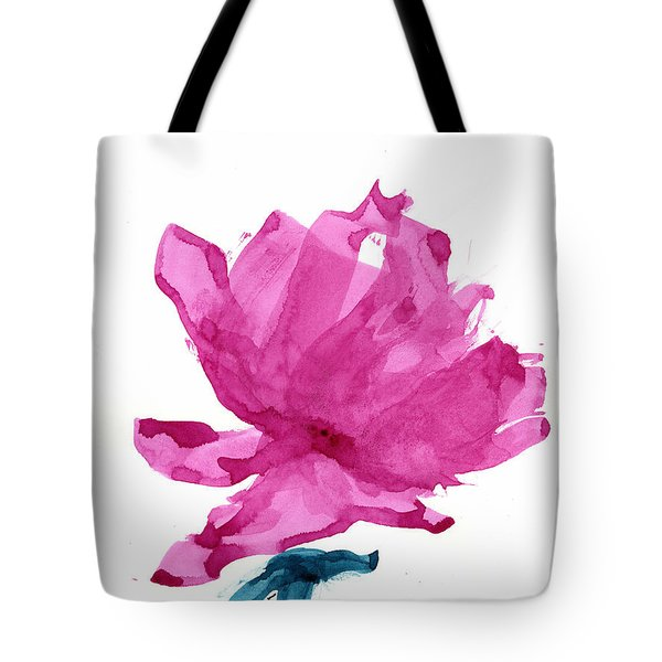 Tote Bag featuring the painting Chinese Rose Hibiscus by Frank Bright