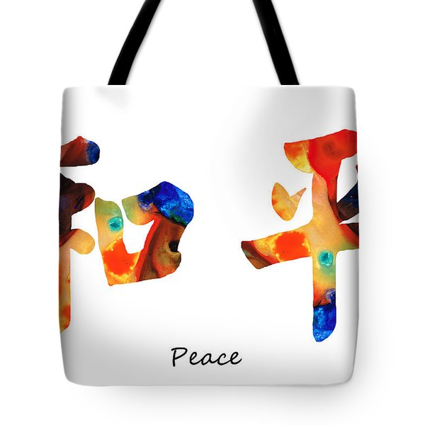Chinese Symbol - Peace Sign 1 Tote Bag by Sharon Cummings