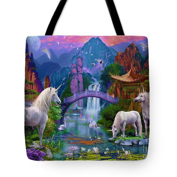 Chinese Unicorns Tote Bag by Jan Patrik Krasny