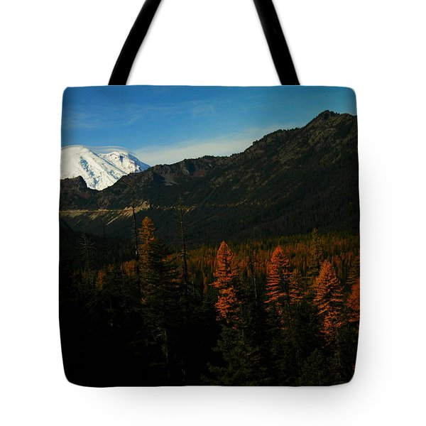 Chinnock Pass From Masatchee Falls Tote Bag