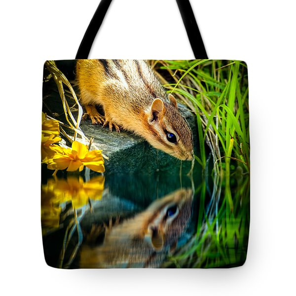 Chipmunk Reflection Tote Bag