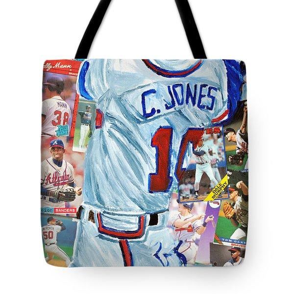 Chipper Jones 14 Tote Bag by Michael Lee