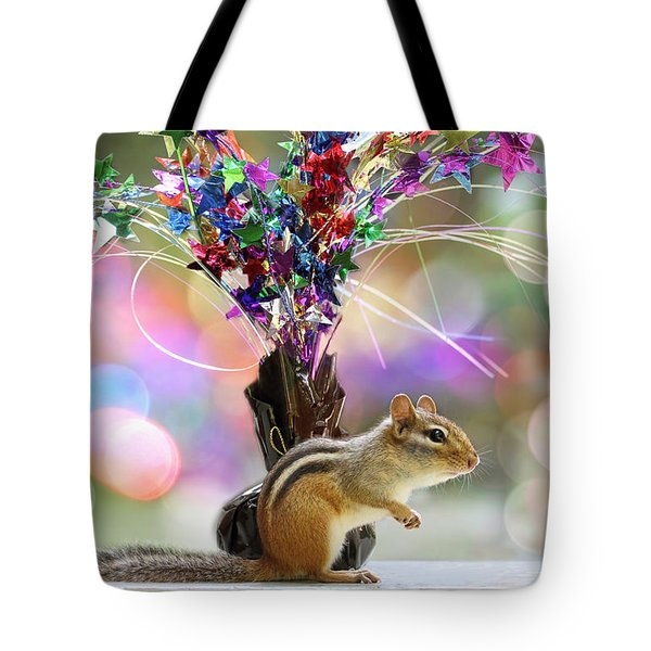 Chippy Party Time Tote Bag by Peggy Collins