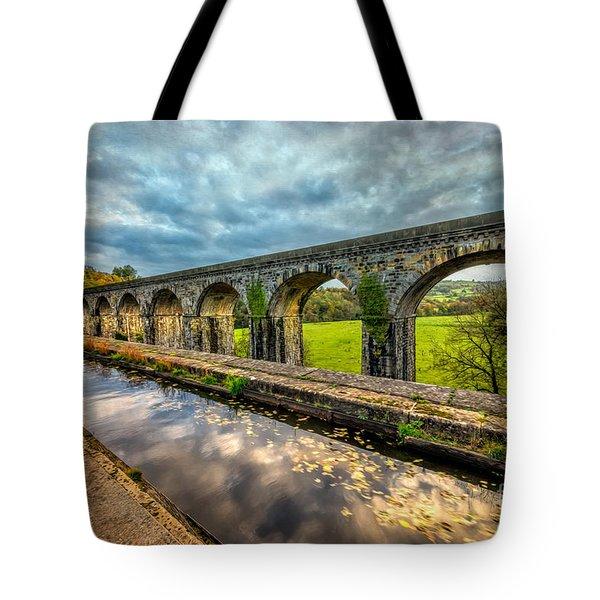 Chirk Aqueduct 1801 Tote Bag by Adrian Evans