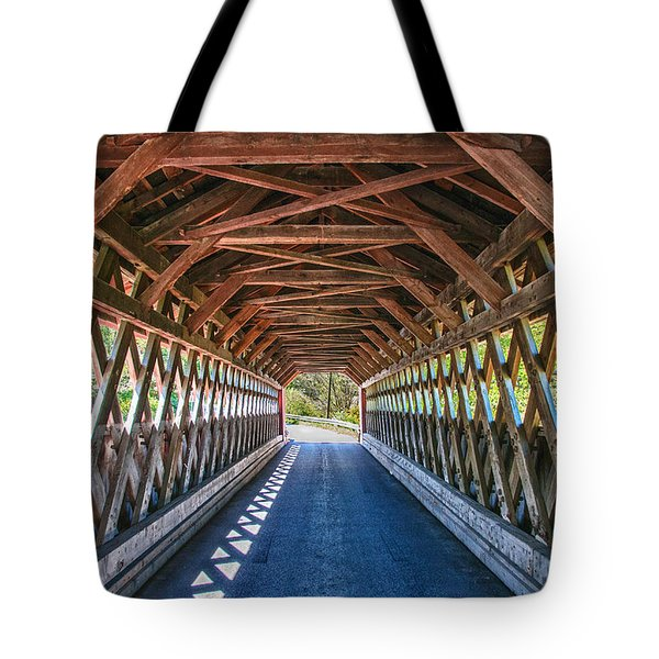 Chiselville Bridge Tote Bag