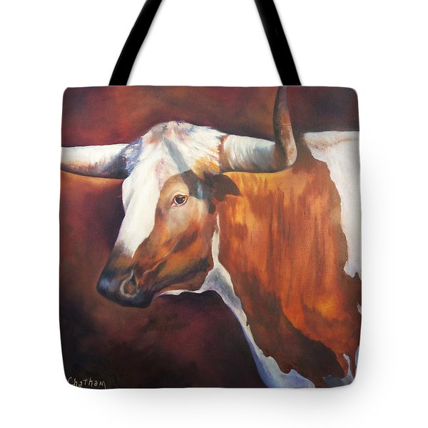 Tote Bag featuring the painting Chisholm Longhorn by Karen Kennedy Chatham