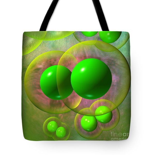 Tote Bag featuring the digital art Chlorine Molecule 2 Texture by Russell Kightley