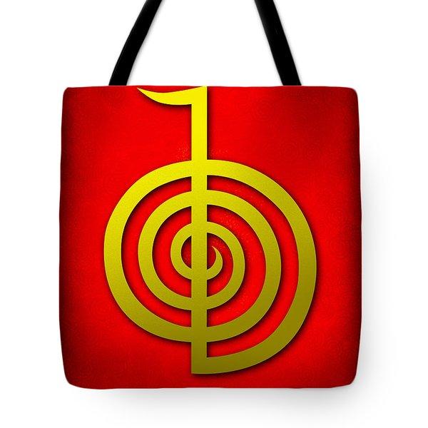 Cho Ku Rei - Traditional Reiki Usui Symbol Tote Bag by Cristina-Velina Ion