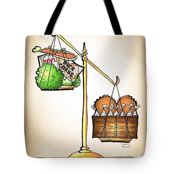 Chocolate Always Wins Tote Bag