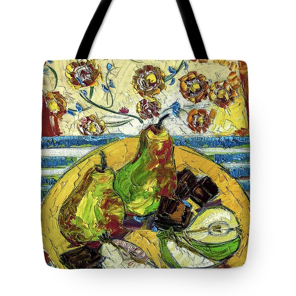 Chocolate And Pears Provence Tote Bag